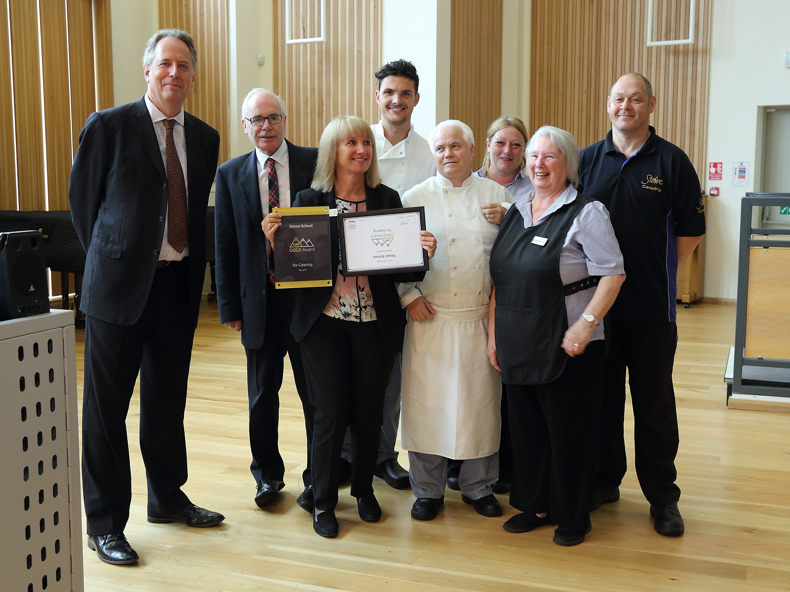 Stowe Catering Department CAP Award