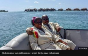 Herman and Denise Gordon sent on holiday to Jamaica