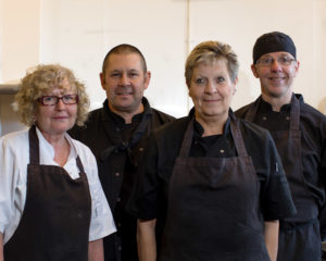 The catering team at Vinehall School